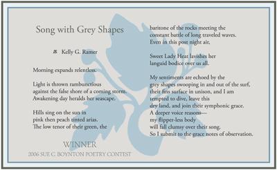 Kelly G. Ramer - Song with Grey Shapes - 2006 Walk Award
