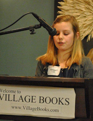 Abigail Carr reading at Village Books