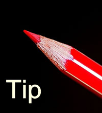 tip red pencil