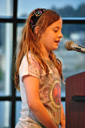 Dakota Carson reading her 2011 winning poem, Poor Me
