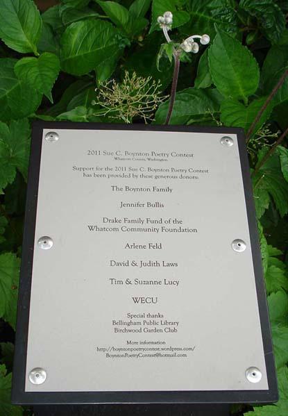 2011 Sue Boynton Contest donors