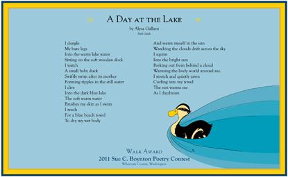 Alysa Gallant - A Day at the Lake - 2011 Walk Award