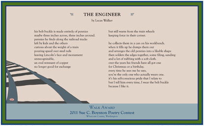 Lucas Walker - the engineer - 2011 Walk Award