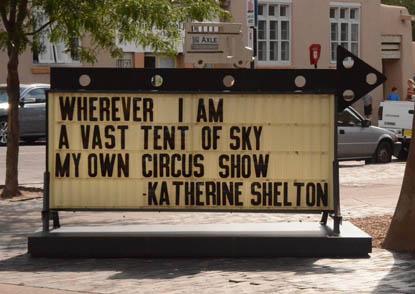 haiku roadsign by Katherine Shelton