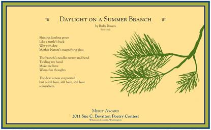 Ruby Powers - Daylight on a Summer Branch - 2011 Merit Award
