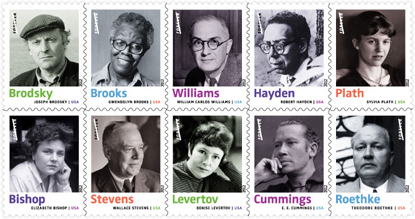 USPS 20th century poets ~ 2012 issue