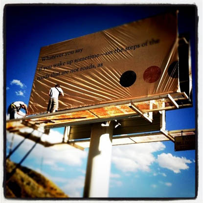 Billboard Poetry Project, installation photo