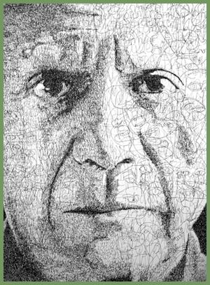 Picasso portrait by Anatol Knotek