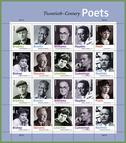 Stamps: 20th-century poets