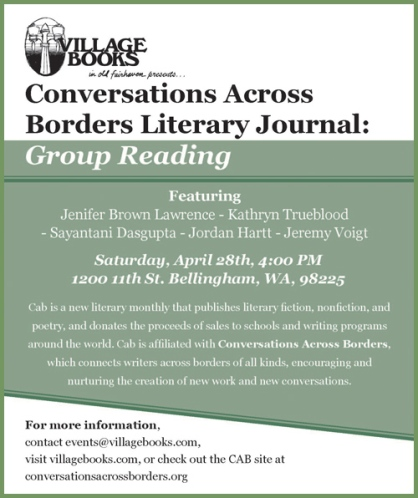 Conversations Across Borders reading April 28