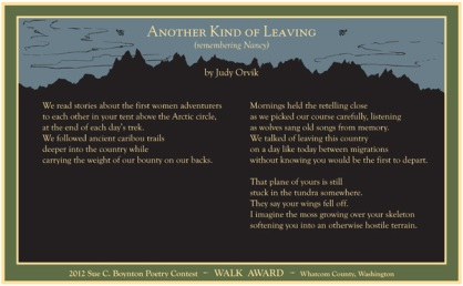 Judy Orvik ~ Another Kind of Leaving
