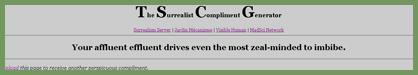 The Surrealist Compliment Generator