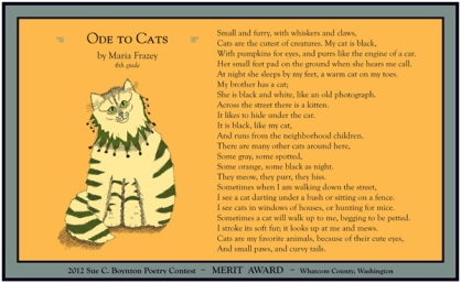 Maria Frazey ~ Ode to Cats