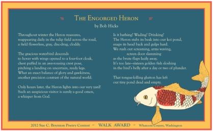 Bob Hicks ~ The Engorged Heron