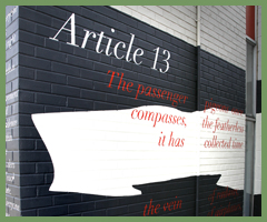 Article 13 mural, Toronto
