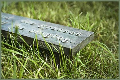 cemetery marker by Kariouk Associates