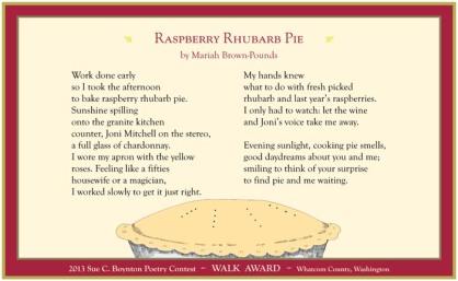 Raspberry Rhubarb Pie by Mariah Brown-Pounds