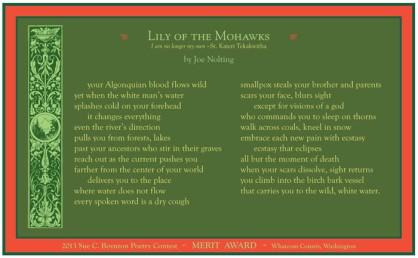 Lily of the Mohawks by Joe Nolting