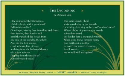 The Beginning by Deborah Lutz