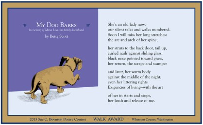 My Dog Barks by Betty Scott