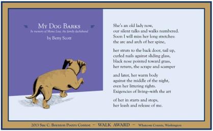 My Dog Barks by Betty Scott