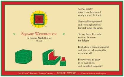 The Square Watermelon by Bassam Najib Boulos