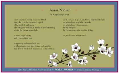Angela Belcaster - April Night