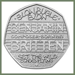 Benjamin Britten Commemorative 50p Coin