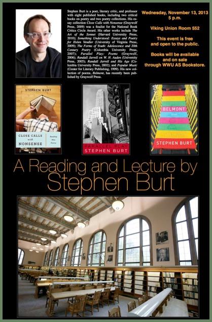 Stephen Burt at WWU