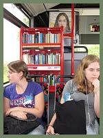 bus book rack, Hamburg