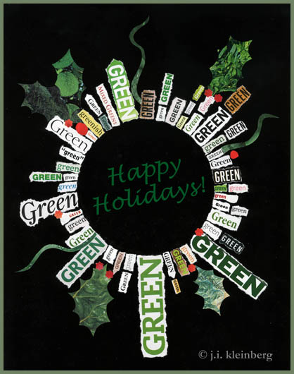green wreath © j.i. kleinberg 2013