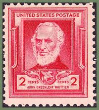 John Greenleaf Whittier 1940 postage stamp