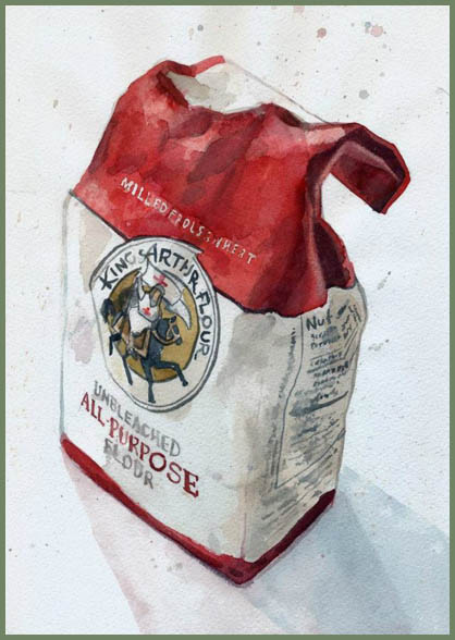 flour sack illustration by Jessica Bonin