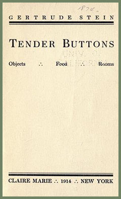 tender buttons food