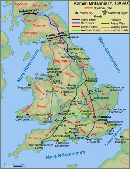 Roman roads in Britannia