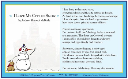 Andrew Shattuck McBride - I Love My City in Snow