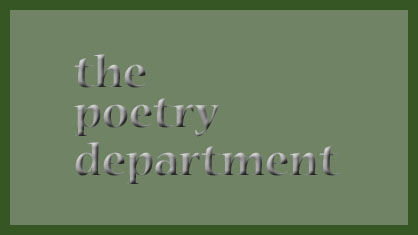 the poetry department
