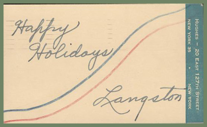 Langston Hughes Happy Holidays