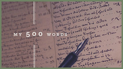 Jeff Goins -- My 500 words