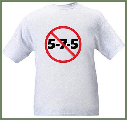 No 5-7-5 T-shirt