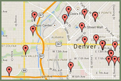 Denver Poetry Map