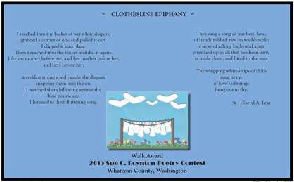 CLOTHESLINE EPIPHANY by Cheryl A. Fear
