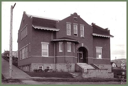 Fairhaven Library pre-stucco