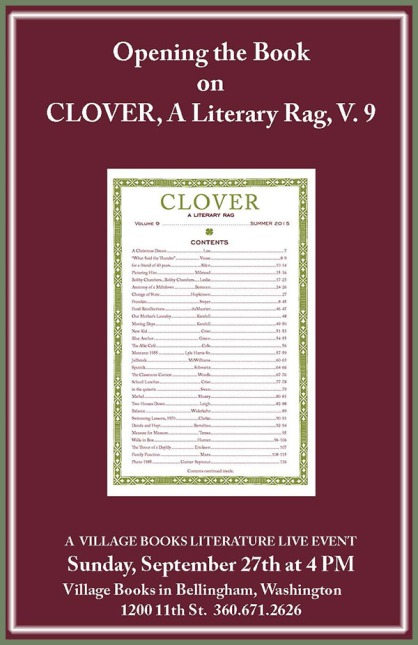Clover, A Literary Rag Vol 9 reading