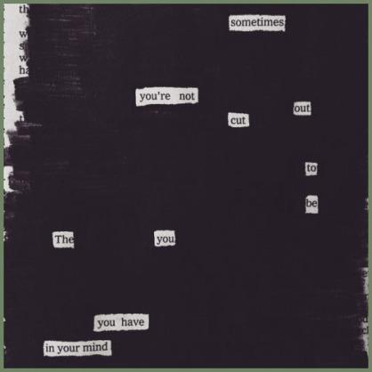 Austin Kleon blackout poem