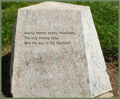 Wallace Stevens Walk, stone 1