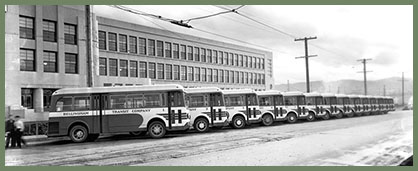 Bellingham Transit Company buses 1938