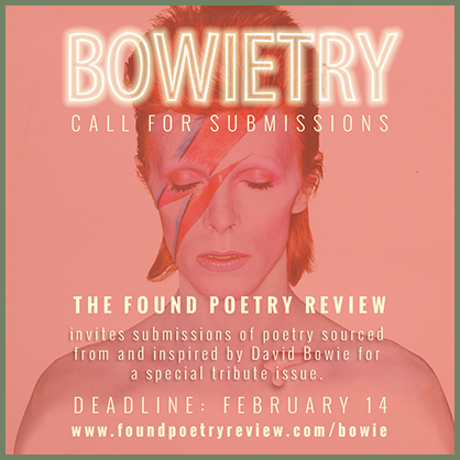 Found Poetry Review Bowie call