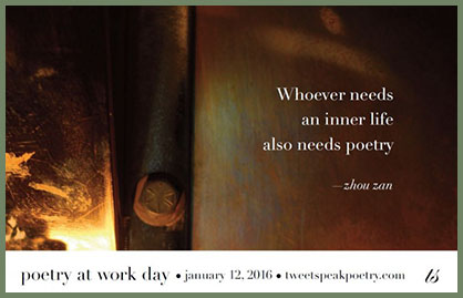 Poetry at Work Day 2016