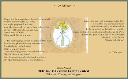 29 February - Tallie Jones